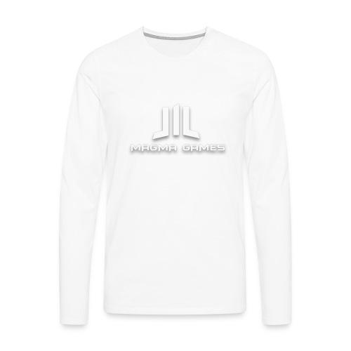 Magma Games mok zwart met - Mannen Premium shirt met lange mouwen