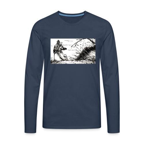 SERIOUS MAN - Maglietta Premium a manica lunga da uomo
