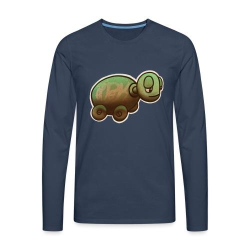 Vintage Spielzeug Holz Schildkröte / Wooden Turtle - Männer Premium Langarmshirt