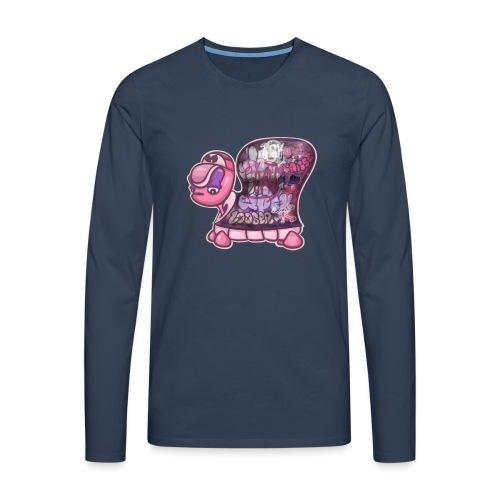 Graffiti Tag turtle / Schildkröte Graffiti Logo - Männer Premium Langarmshirt