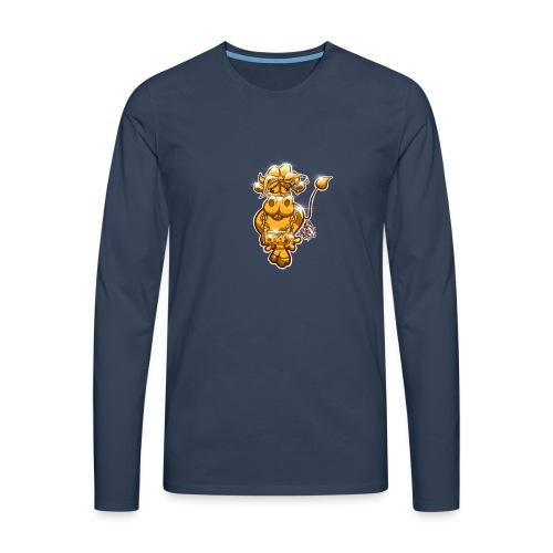 Goldene Gangster Kuh / Gold Thug Cow - Männer Premium Langarmshirt