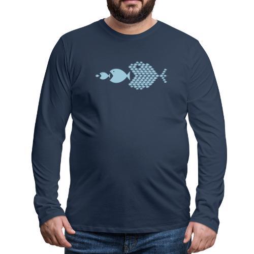 poissons mer vacances - T-shirt manches longues Premium Homme