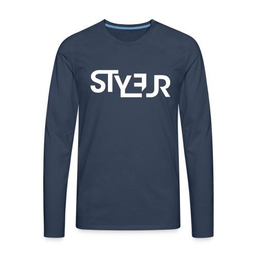 styleur logo spreadhsirt - Männer Premium Langarmshirt