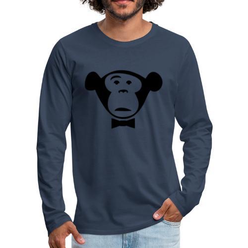 Monkey Media Official Logo - Männer Premium Langarmshirt