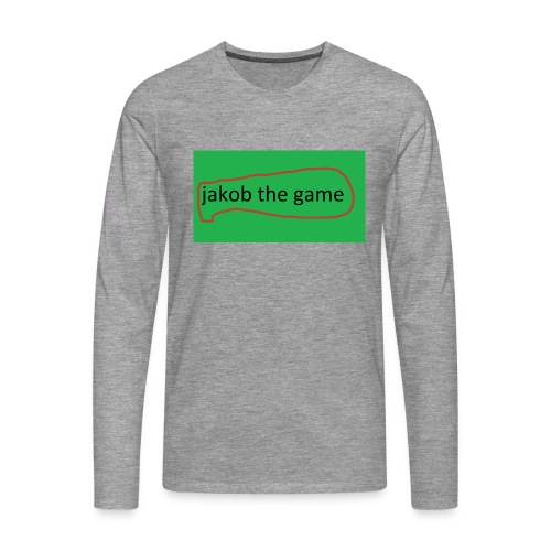jakob the game - Herre premium T-shirt med lange ærmer