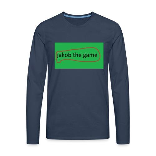 jakob the game - Herre premium T-shirt med lange ærmer