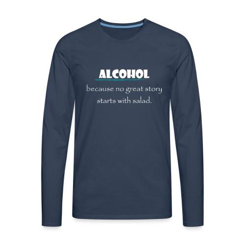 alcohol salad - Männer Premium Langarmshirt