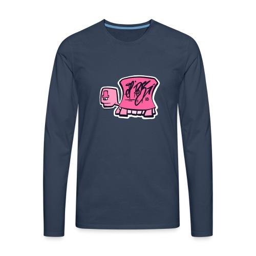 Tag turtle / Pink Schildkröte Logo - Männer Premium Langarmshirt
