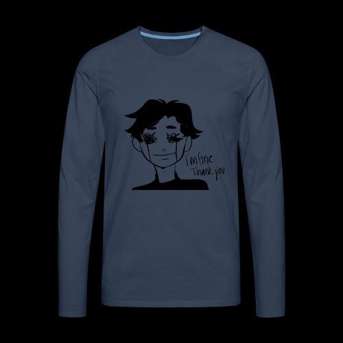 Feeling Vulnerable - Mannen Premium shirt met lange mouwen