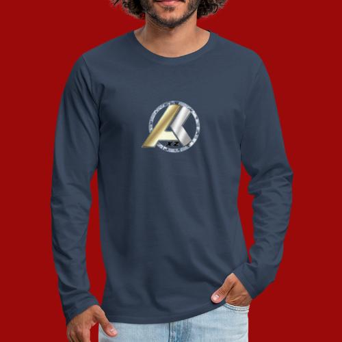AK Logo GOLD SILVER DIAMANT - Männer Premium Langarmshirt