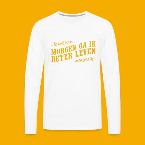 tshirt yllw 01 - Mannen Premium shirt met lange mouwen