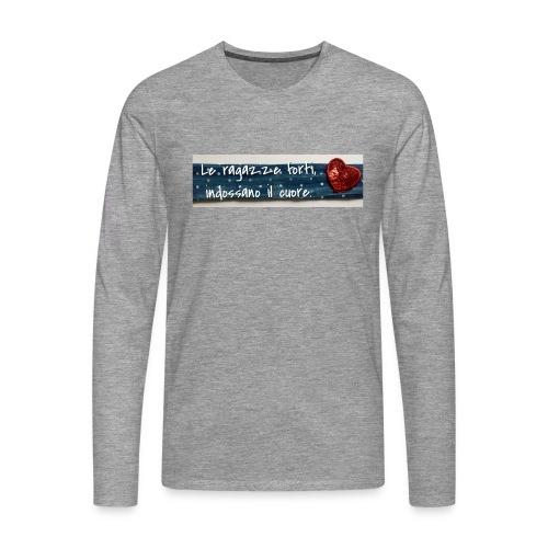 Cuore - Maglietta Premium a manica lunga da uomo