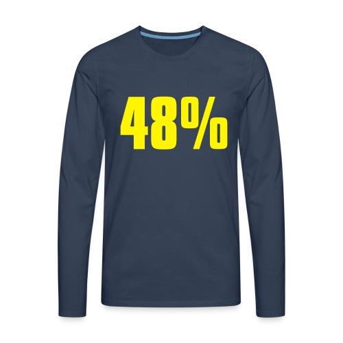 48% - Men's Premium Longsleeve Shirt