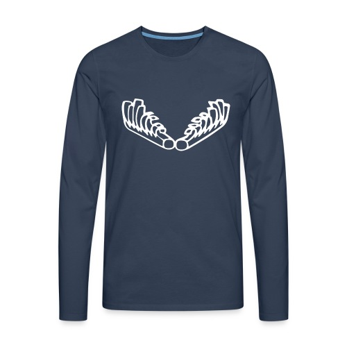 Kiehiset_logo_walk - Miesten premium pitkähihainen t-paita