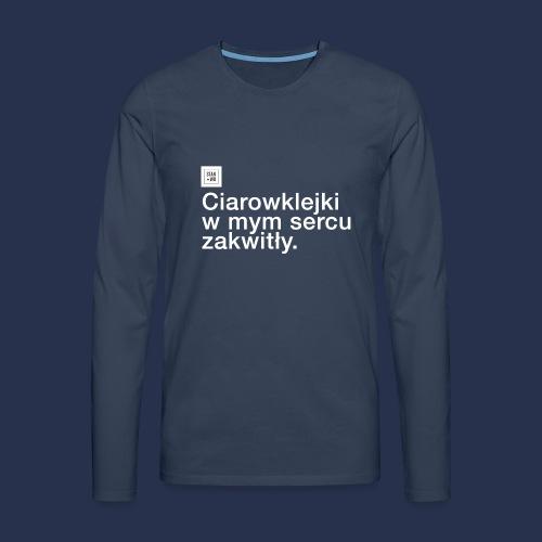 CIAROWKLEJKI - jasne - Koszulka męska Premium z długim rękawem