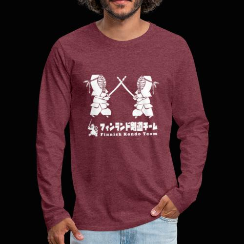fka team logo white - Miesten premium pitkähihainen t-paita