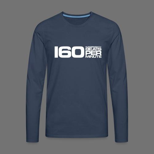 160 BPM (białe długie) - Koszulka męska Premium z długim rękawem