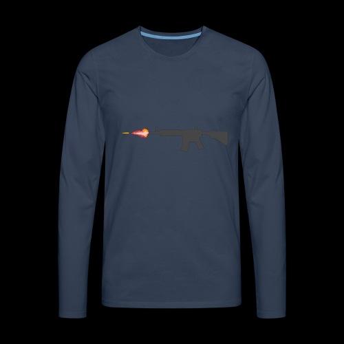 csgo M4A4 - Långärmad premium-T-shirt herr