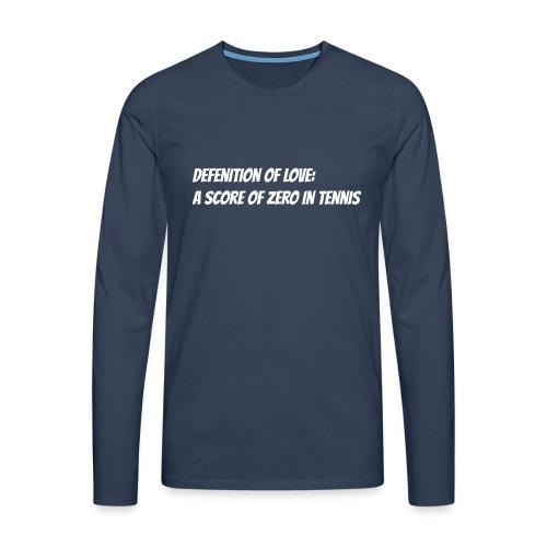 Tennis Love sweater woman - Mannen Premium shirt met lange mouwen