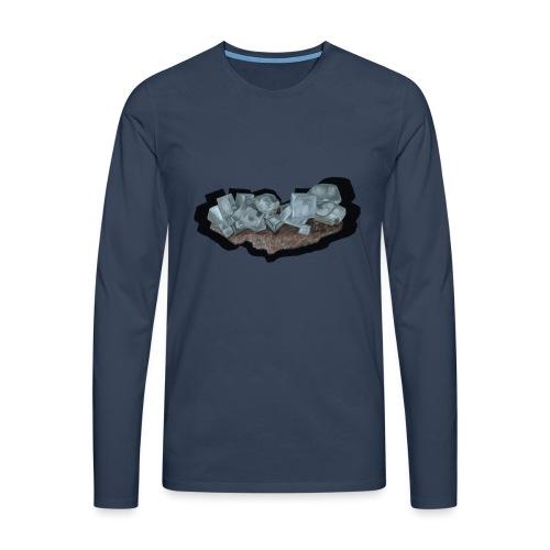 Halit-Kristallstufe - Männer Premium Langarmshirt