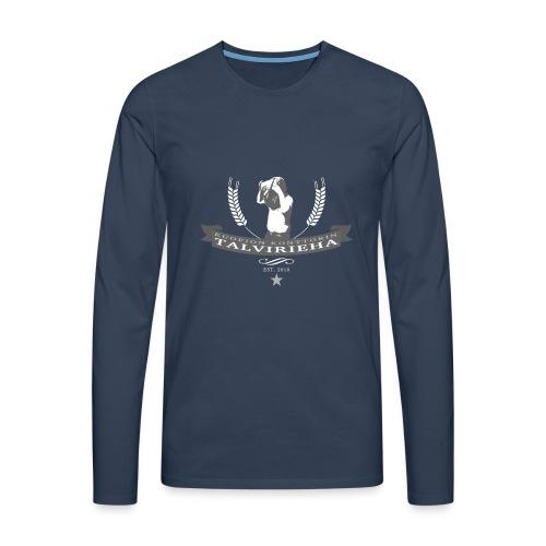 Talvirieha - Miesten premium pitkähihainen t-paita