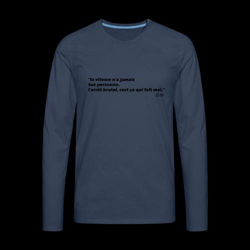 vitesse (noir) - T-shirt manches longues Premium Homme