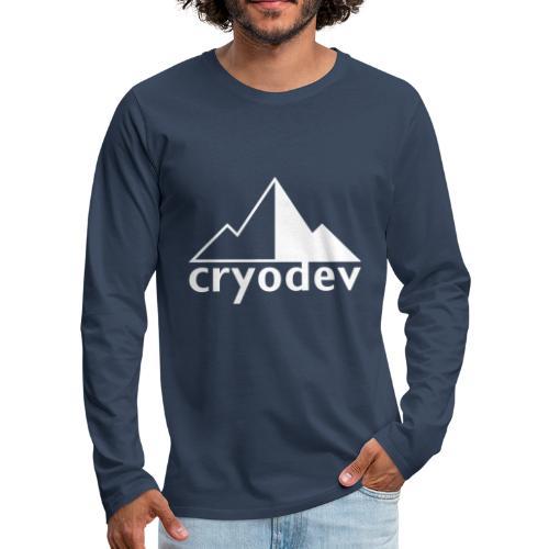 Cryodev AB Logo - Långärmad premium-T-shirt herr