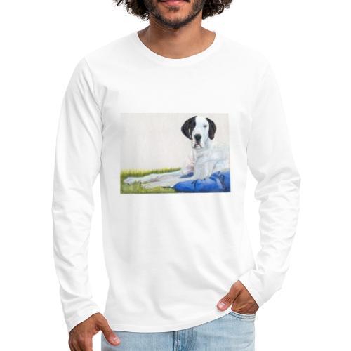 Grand danios harlequin - Herre premium T-shirt med lange ærmer