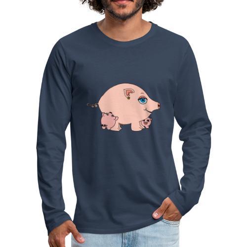 Cochonette et ses bébés - T-shirt manches longues Premium Homme