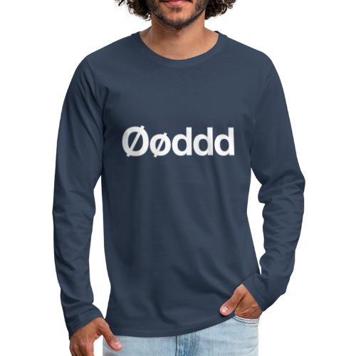 Øøddd (hvid skrift) - Herre premium T-shirt med lange ærmer