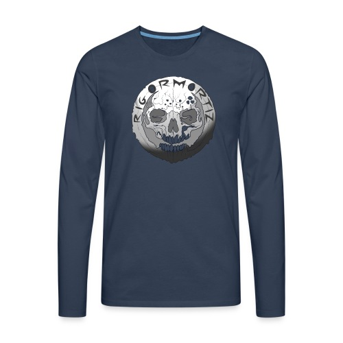 Rigormortiz Black and White Design - Men's Premium Longsleeve Shirt