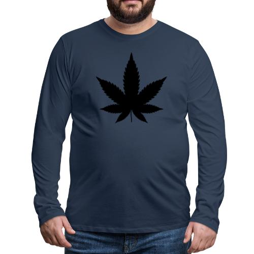 CannabisBlack - Männer Premium Langarmshirt