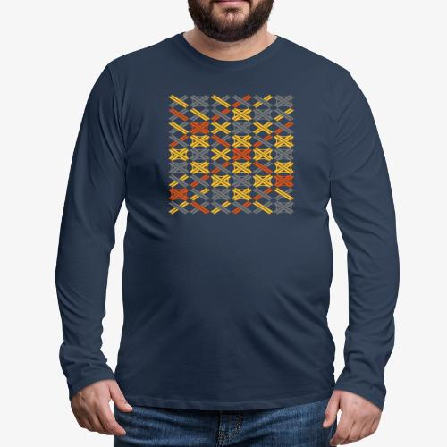 Autobahnkreuze Mesh - Männer Premium Langarmshirt