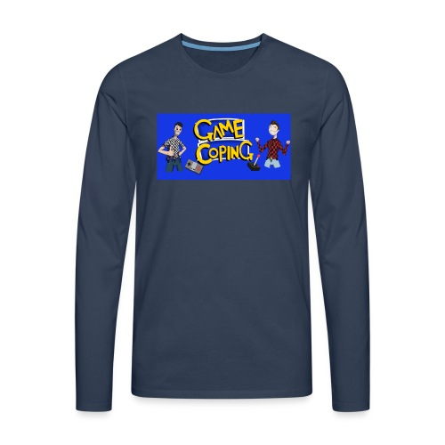 Game Coping Happy Banner - Men's Premium Longsleeve Shirt