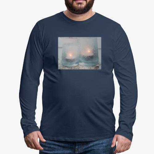 Selectie kaarslicht - Mannen Premium shirt met lange mouwen