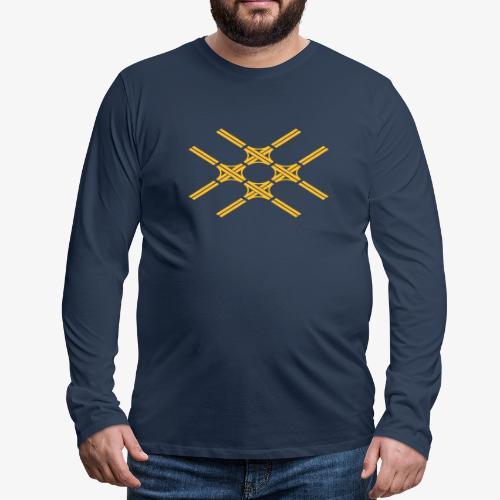 Autobahnkreuze Quartett - Männer Premium Langarmshirt