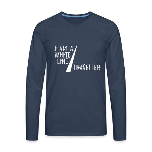 i am a white line traveller - Mannen Premium shirt met lange mouwen