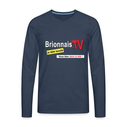 BTV logo shirt dos - T-shirt manches longues Premium Homme