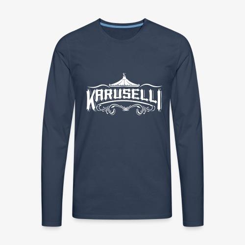 Karuselli - Miesten premium pitkähihainen t-paita