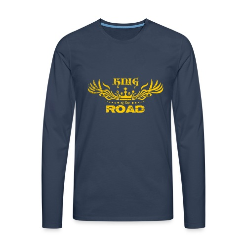 King of the road light - Mannen Premium shirt met lange mouwen