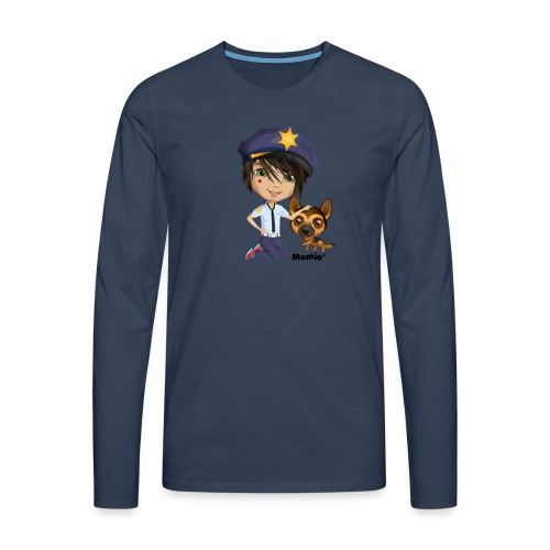 Jack and dog - av Momio Designer Cat9999 - Premium langermet T-skjorte for menn