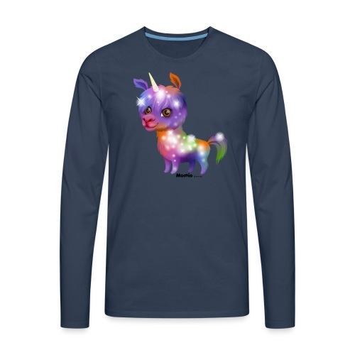 Llamacorn - Premium langermet T-skjorte for menn