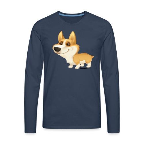 Corgi - Koszulka męska Premium z długim rękawem