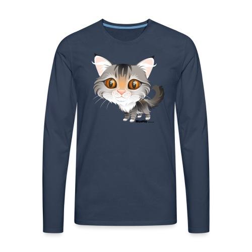 Kot - Koszulka męska Premium z długim rękawem