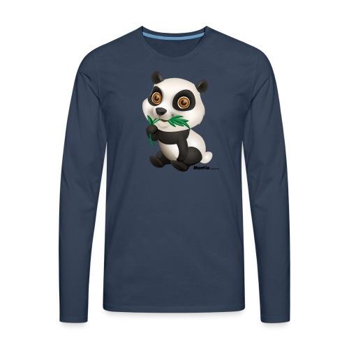 Panda - Premium langermet T-skjorte for menn