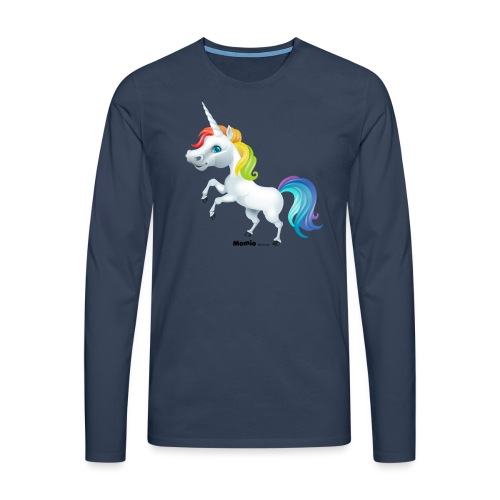 Rainbow enhjørning - Premium langermet T-skjorte for menn