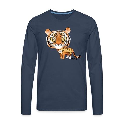 Tiger - Premium langermet T-skjorte for menn