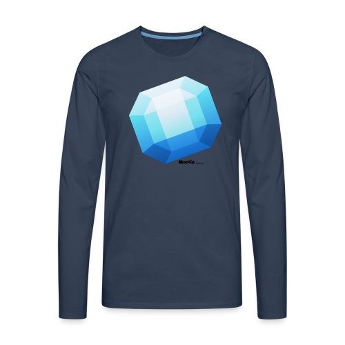 Szafir - Koszulka męska Premium z długim rękawem