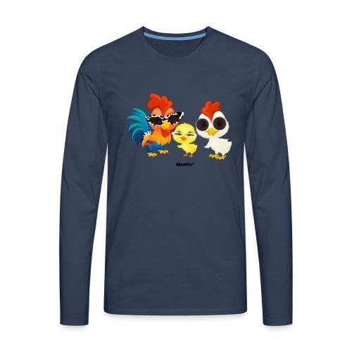 Kurczak - autorstwa Momio Designer Emeraldo. - Koszulka męska Premium z długim rękawem