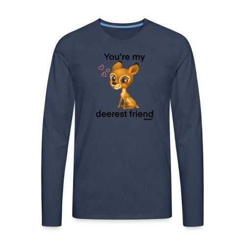 Deerest przyjaciel przez Diamondlight - Koszulka męska Premium z długim rękawem